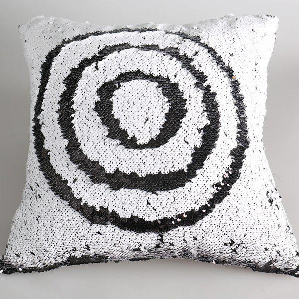 Chic DIY Pattern Reversible Sequins Embellished Sofa Pillow Case