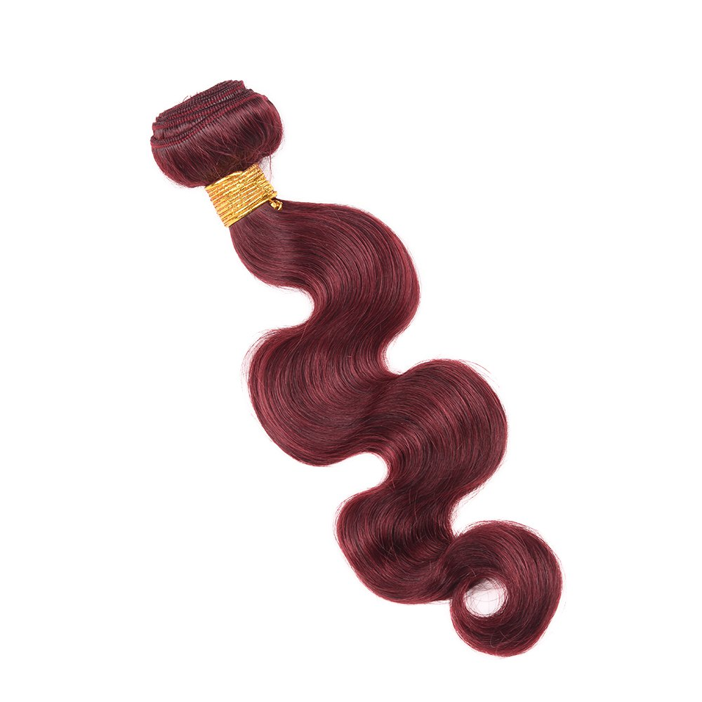 1 Pcs Fashion Claret Women's 6A Virgin Body Wave Brazilian Hair Weave - CLARET 26INCH