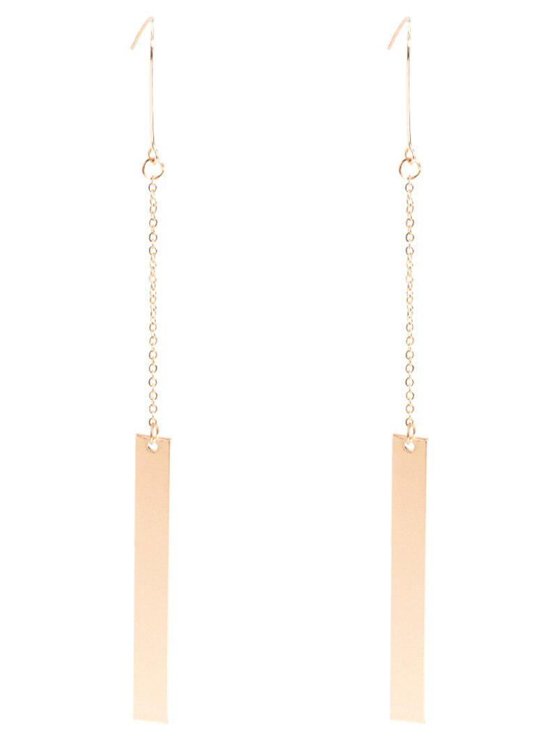 Vintage Bar Drop Earrings - GOLDEN