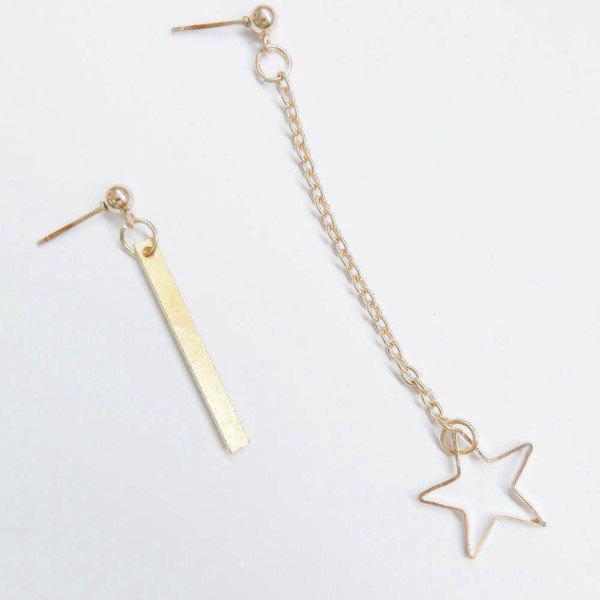 Pair of Stunning Bar Pentagram Earrings For Women