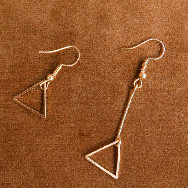 Pair of Trendy Style Asymmetric Triangle Earrings For Women