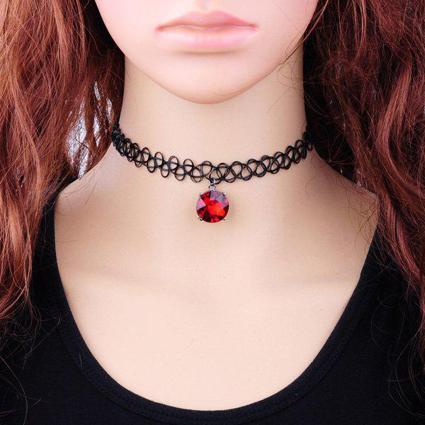 Tattoo Faux Zircon Choker Necklace