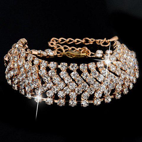 Delicate Cut Out V-Shaped Rhinestone Bracelet For Women