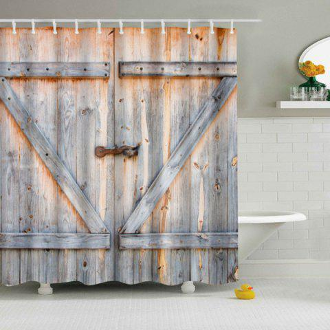 Eco Friendly Dream Wood Door Printing Shower Curtain For Bathroom