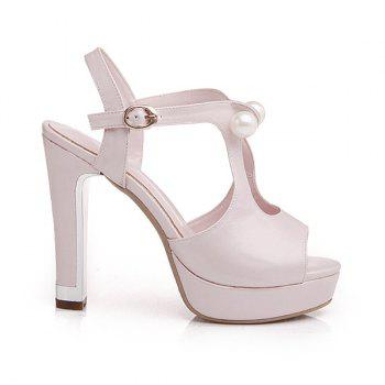 Trendy Faux Pearls and Platform Design Women's Sandals