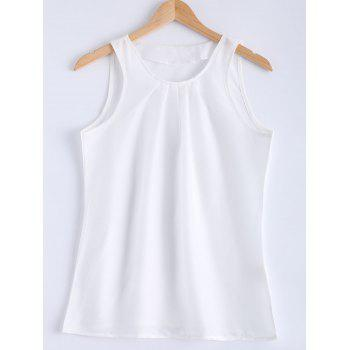 Stylish Sleeveless Round Collar Pure Color Women's Tank Top