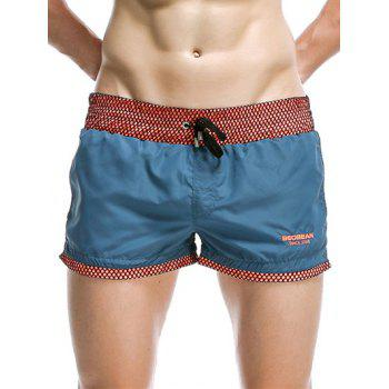 Drawstring Waistband Design Casual Board Shorts For Men