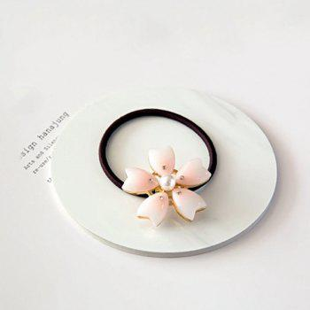 Simple Faux Pearl Sakura Elastic Hair Band For Women