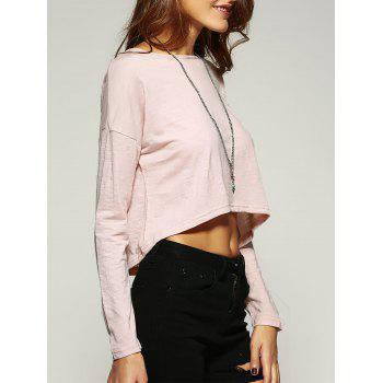 Elegant Back Lace Crochet Spliced Cropped Blouse
