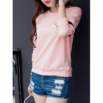 Star Graphic Long Sleeve T-Shirt - PINK M