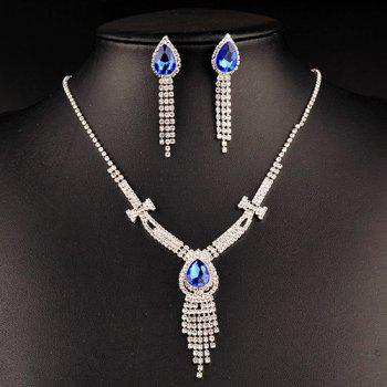 Faux Sapphire Wedding Jewelry Set