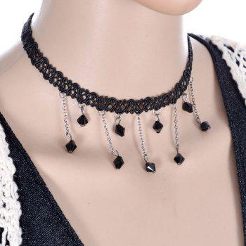 Gothic Hollowed Geometric Beads Choker