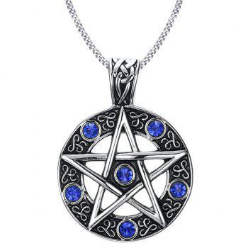 Star Round Pendant Necklace