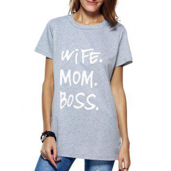 Funny Print Long T-Shirt
