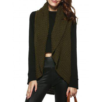Stylish Shawl Collar Sleeveless Knitted Cardigan