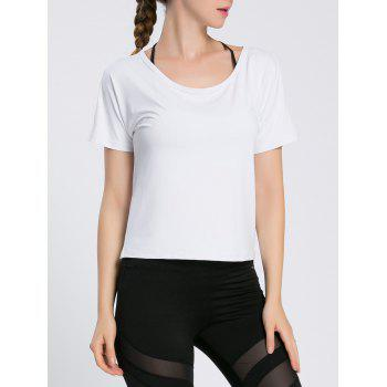 Brief Pure Color Hollow Out Sport Tee