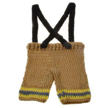 Fireman Overalls Crochet Photography Clothes Set For Baby -  YELLOW
