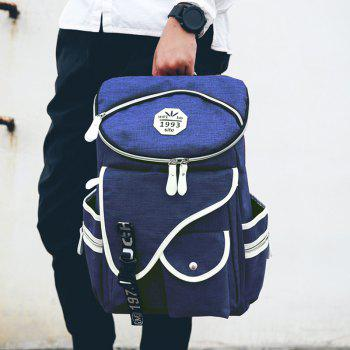 Stylish Zippers and Pockets Design Men's Backpack