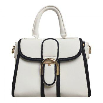 Buy Leisure Metallic Color Block Design Women's Tote Bag WHITE
