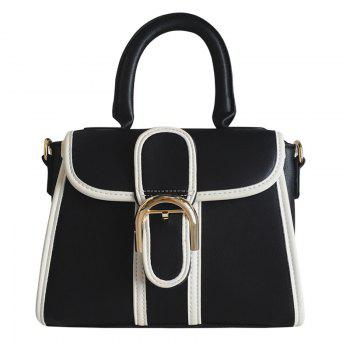 Buy Leisure Metallic Color Block Design Women's Tote Bag BLACK