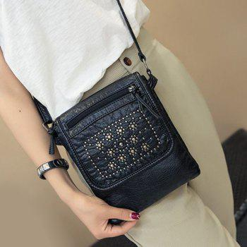 Leisure Magnetic Closure and Black Design Women's Crossbody Bag