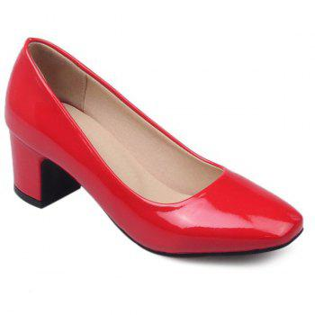 Leisure Block Heel and Square Toe Design Women's Pumps