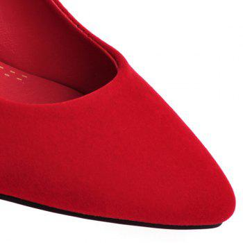 Stylish Flock and Metallic Design Women's Pumps - RED RED