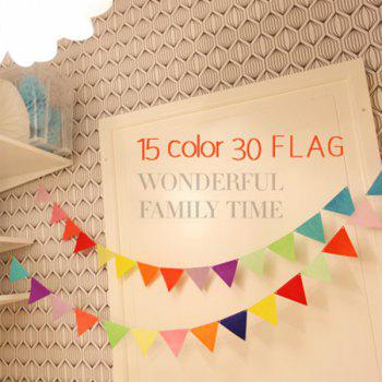 Charming Home School Decor Colorful Party Supplies Pennants - COLORFUL COLORFUL