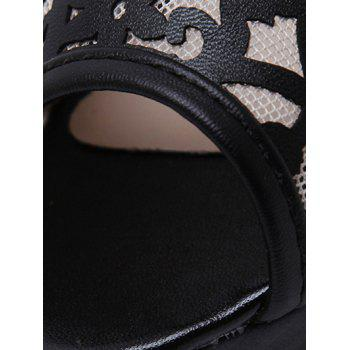 Stylish Hollow Out and Black Design Women's Peep Toe Shoes - BLACK 38