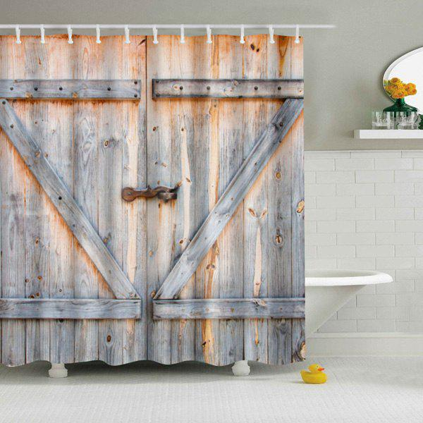 Eco-Friendly Dream Wood Door Printing Shower Curtain For Bathroom vintage wood grain bark waterproof shower curtain