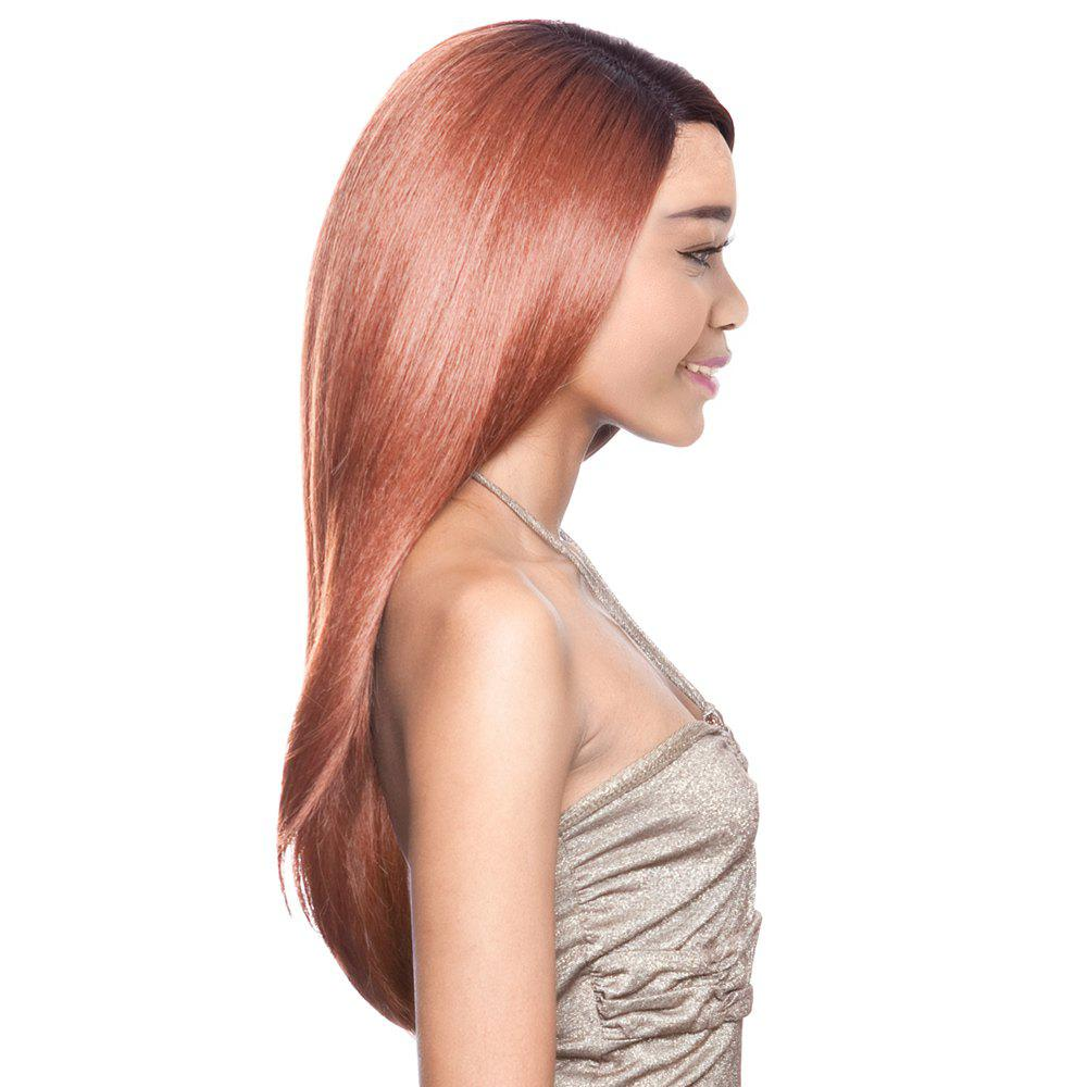 Graceful Women's Long Side Parting Straight Ombre Color Synthetic Hair Wig