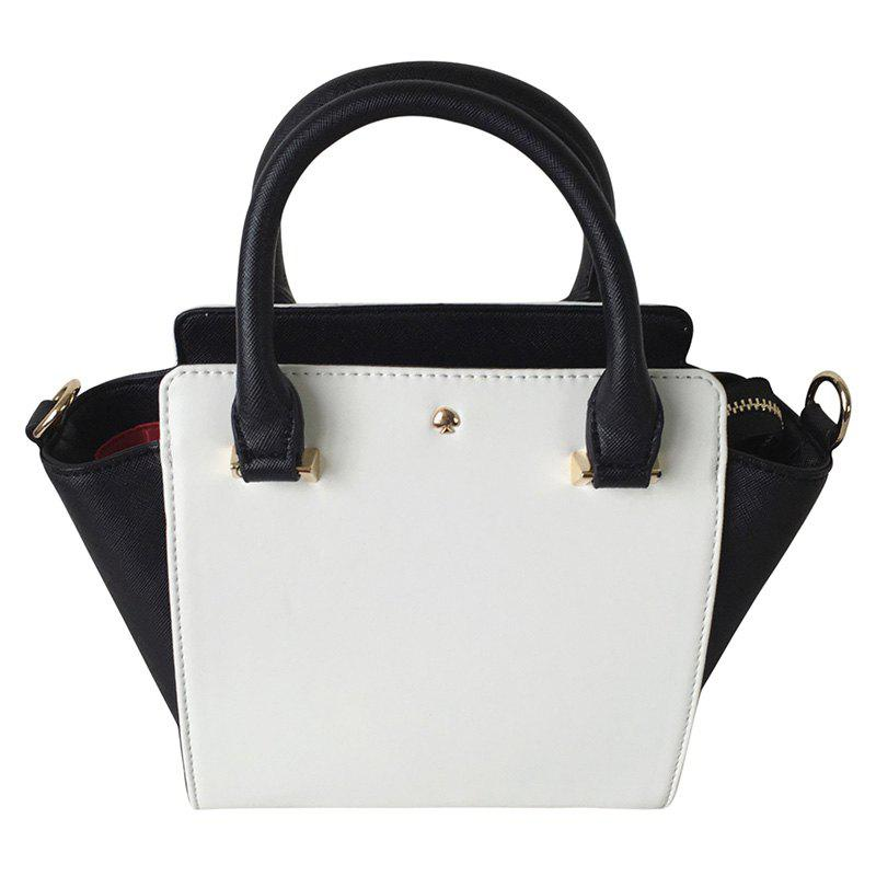 Trendy Batwing and Zip Closure Design Women's Tote Bag - WHITE