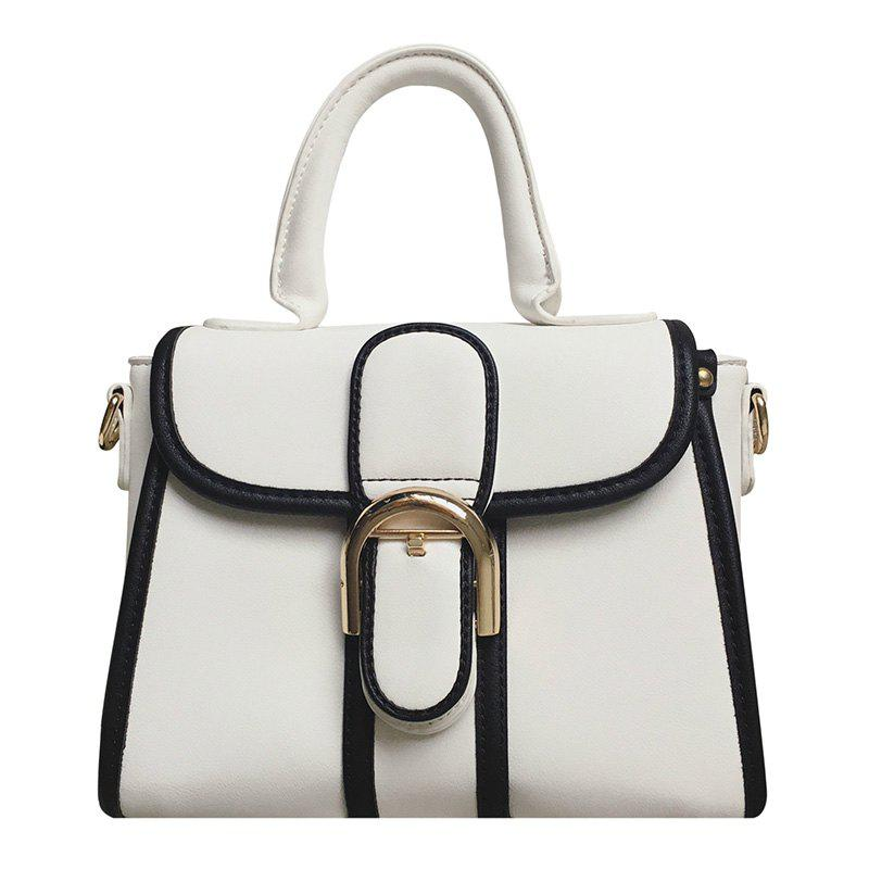 Leisure Metallic and Color Block Design Women's Tote Bag
