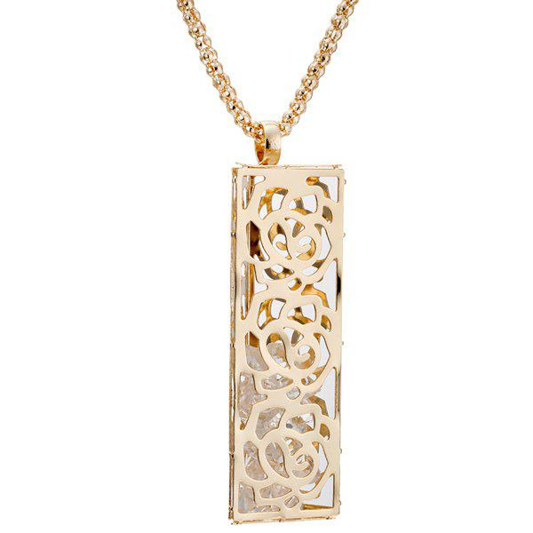 Floral Hollowed Necklace - GOLDEN