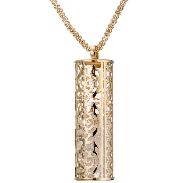 Graceful Cylinder Hollowed Necklace For Women