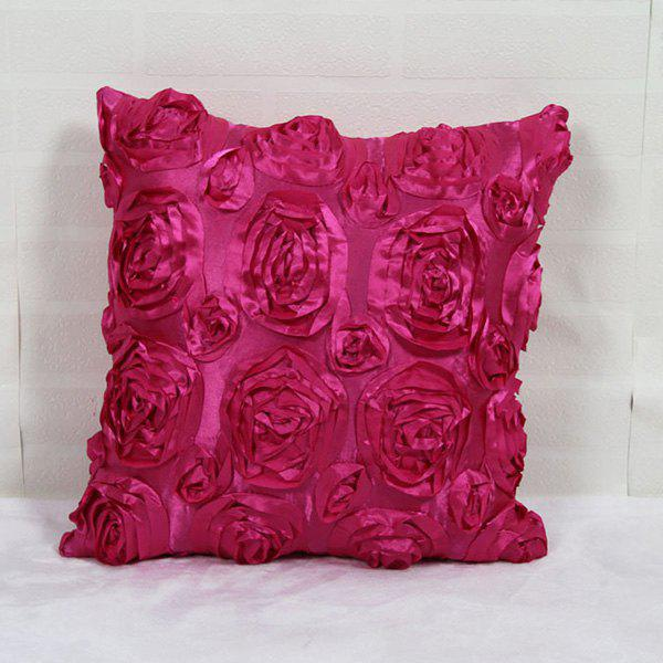 Mordern Style 3D Roses DIY Home Sofa Pillow Case - ROSE MADDER