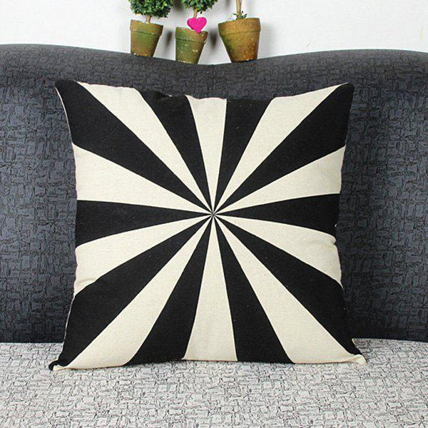 Mordern Style Mouldproof Geometric Abstract Diamond DIY Home Sofa Pillow Case - WHITE/BLACK