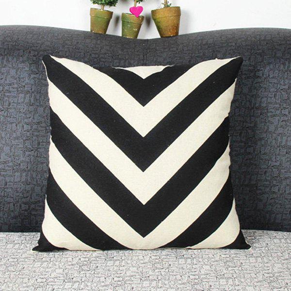 Mordern Style Mouldproof Geometric Arrows Diamond DIY Home Sofa Pillow Case - WHITE/BLACK