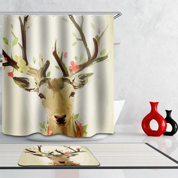 High Quality Waterproof Antelope Cartoon Printing Shower CurtainHome<br><br><br>Color: COLORMIX