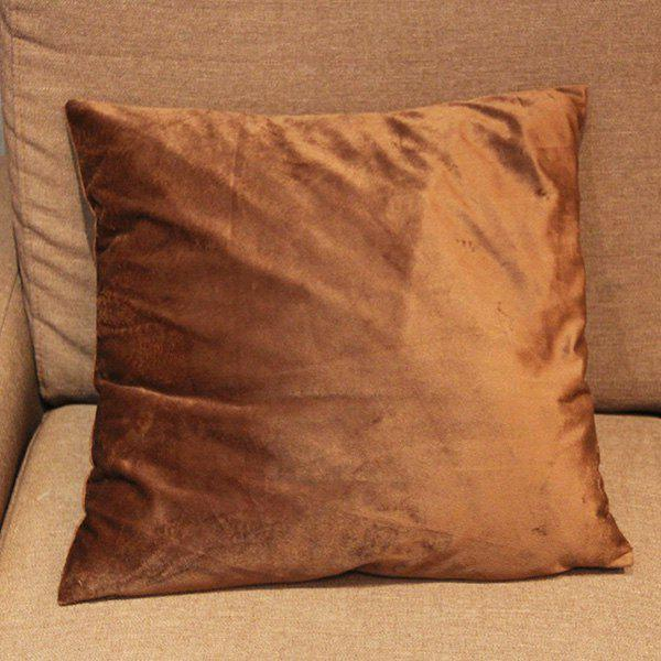 Mordern Style Flocking Candy Pure Color DIY Home Sofa Pillow Case - COFFEE