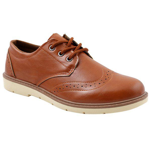 Fashionable Breathable and Lace-Up Design Men's Formal Shoes