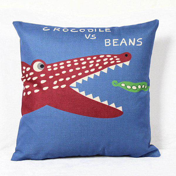 Mordern Style Cute Mouldproof Cartoon Crocodile Pattern Pillow Case - COLORMIX