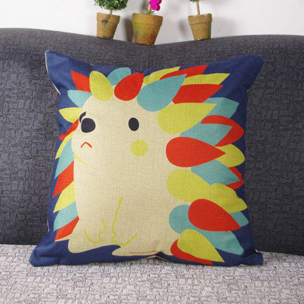 Mordern Style Cute Mouldproof Cartoon Hedgehog Pattern Pillow Case - COLORMIX