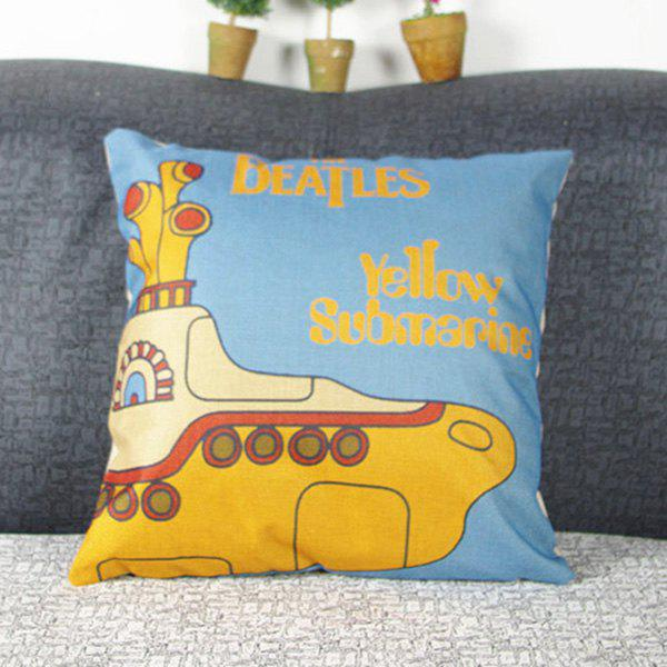 Mordern Style Cute Mouldproof Cartoon Submarine Pattern Pillow Case - COLORMIX