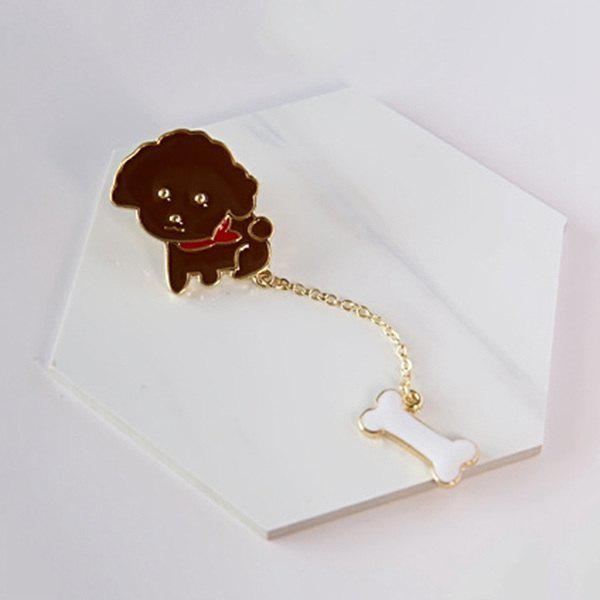 Simple Cartoon Poodle Dog Brooch For Women