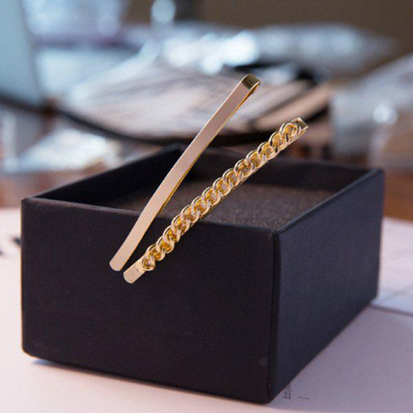 Simple Chain Solid Hairpins For Women - GOLDEN