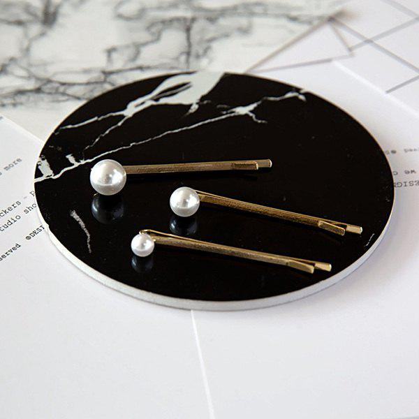 Simple Faux Pearl Hairpins For Women - GOLDEN