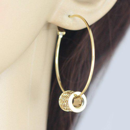 Pair of Delicate Rhinestone Midi Big Hoop Earrings For Women