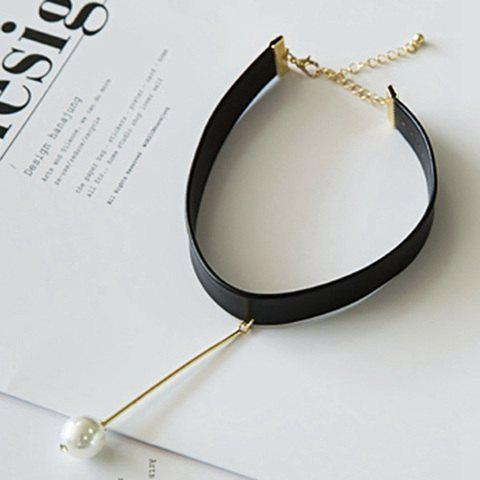 Bar Faux Pearl Choker Necklace