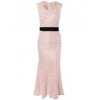 Charming Sleeveless Lace Mermaid Dress For Women